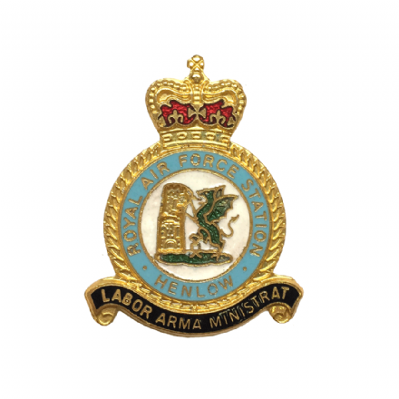 Royal Air Force RAF Station Henlow Lapel Badge